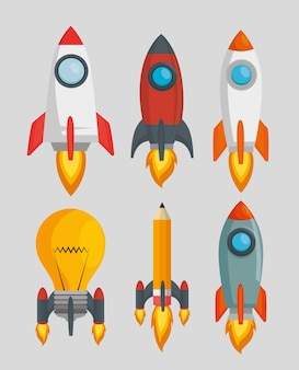 Starten sie launcher set raketen