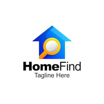 Startseite finden logo farbverlauf vorlagendesign