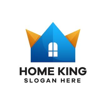 Startseite könig logo-design mit farbverlauf