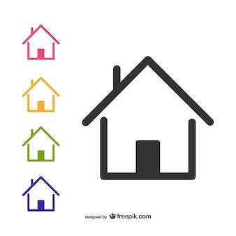 Startseite logo Premium Vektoren