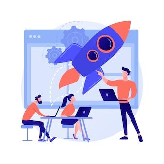 Startup abstraktes konzept