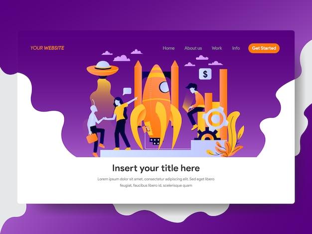 Startup-illustration für die webseite