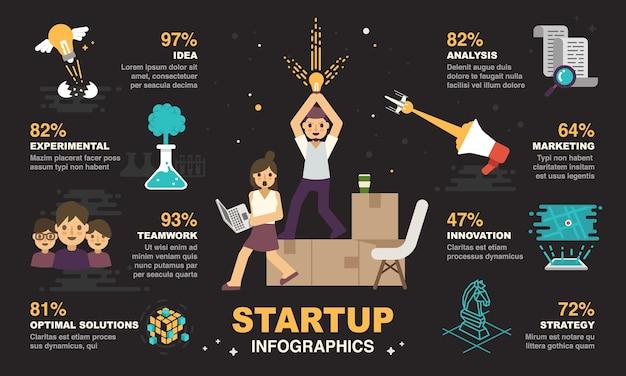 Startup-infografiken-gestaltungselement.