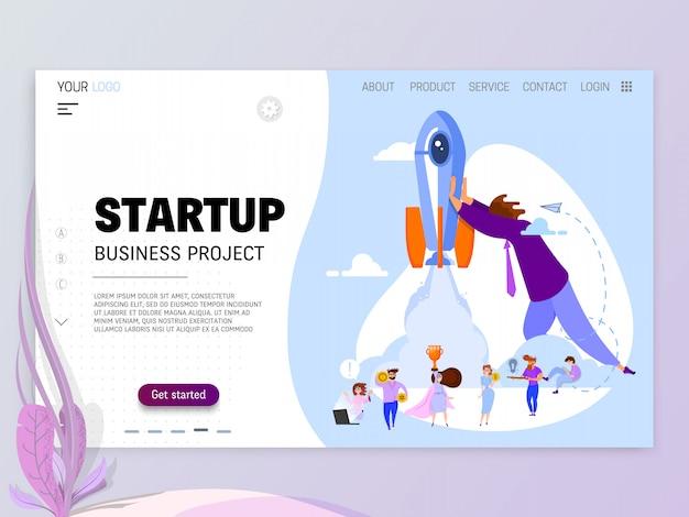 Startup-konzept