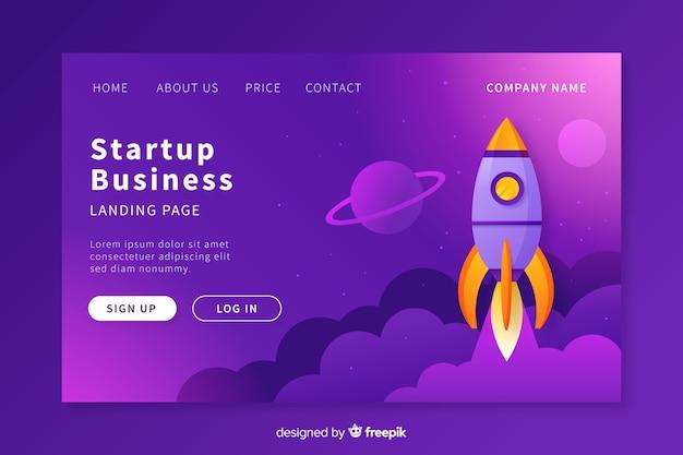 Startup-landing-page-vorlage