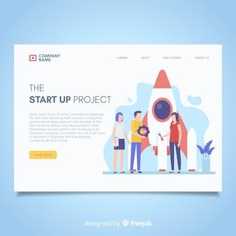 Startup moderne landingpage