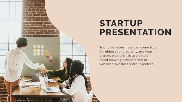 Startup-präsentationsvorlagenvektor für kleine unternehmen Kostenlosen Vektoren