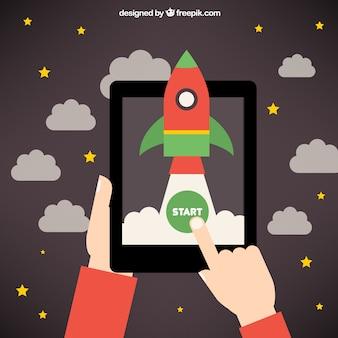 Startup-rakete idee