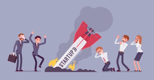 Startup raketenabsturz