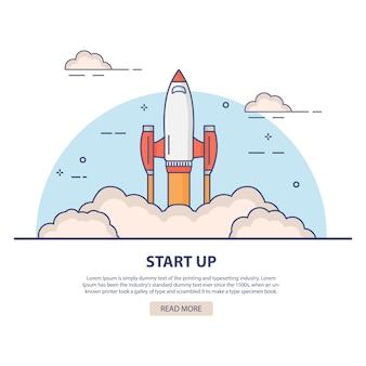 Startup raketenstart.