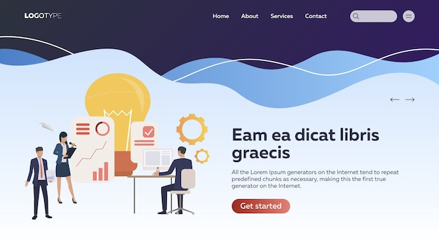Startup-team präsentiert projekt