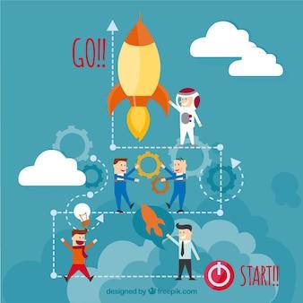 Startup teamarbeit