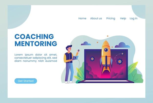 Startup-unternehmen mit raketenstart