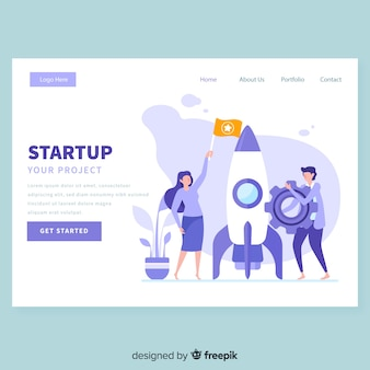 Startup-zielseitenvorlage