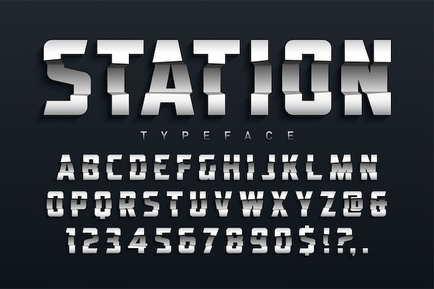 Station futuristische display-schrift-design