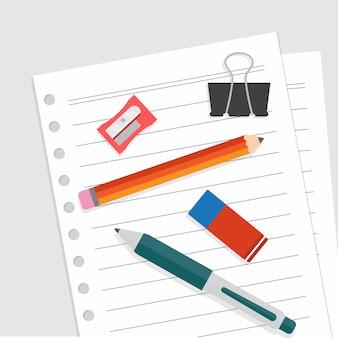 Stationäre flache designvektorillustration