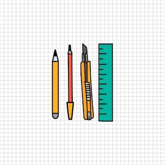 Stationäre illustrationszeichnungsart