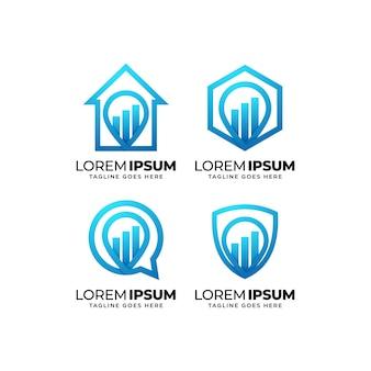 Statistik-business-chart-logo-design-kollektion