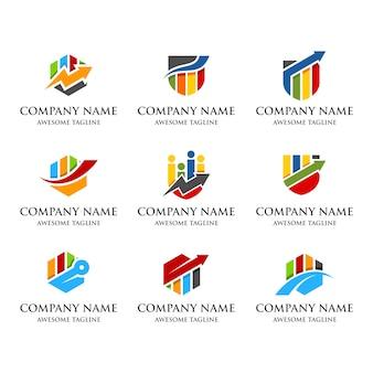 Statistik-finanzen-logo-set