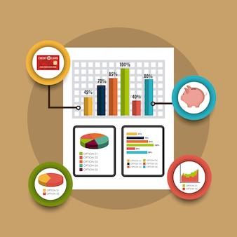 Statistik über unternehmenswachstum und geldersparnis