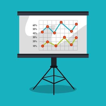 Statistiken in training board isoliert icon design