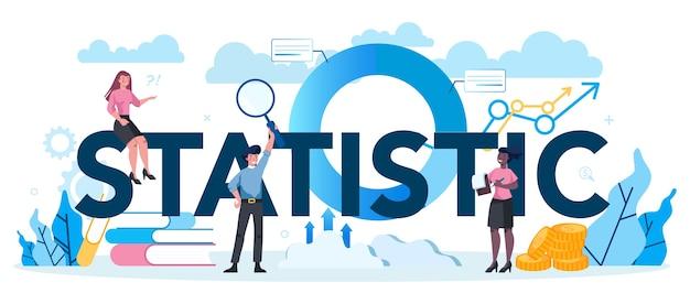 Statistisches und statistisches typografisches header-konzept