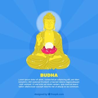Statue von budha hintergrund