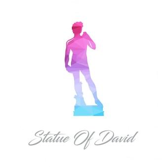 Statue von david polygonal