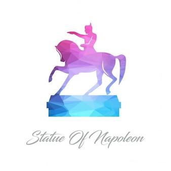 Statue von napoleon polygon-logo