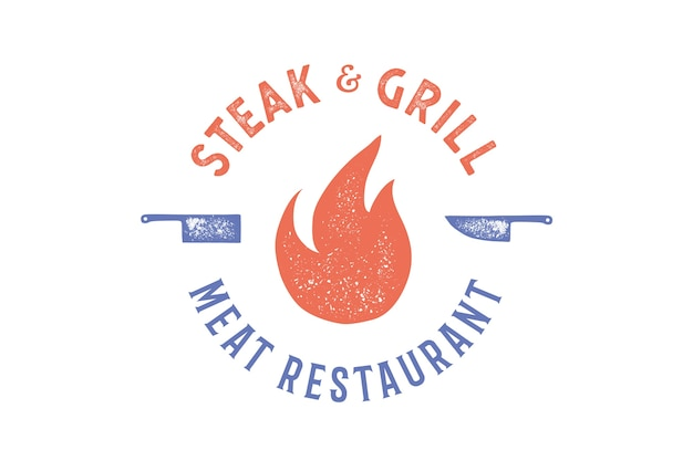 Steak & grill logo design