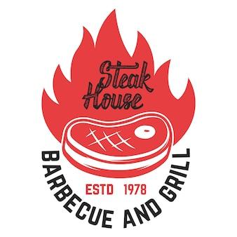 Steak-house. geschnittenes fleisch und gekreuzte fleischspalter.