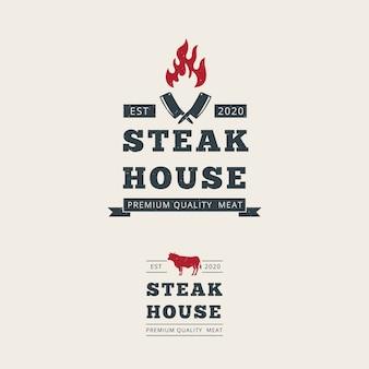 Steak house logo vorlage