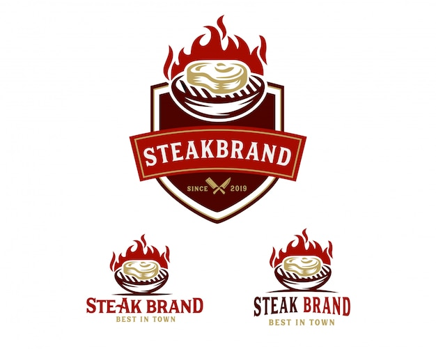 Steak store logo vorlage