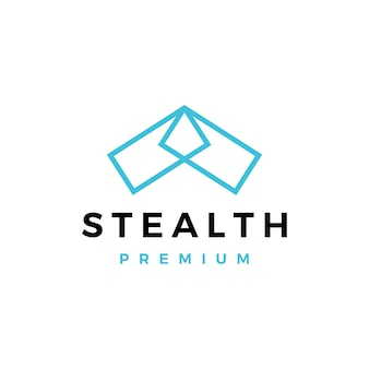 Stealth-bomber-logo-vektor-symbol-illustration