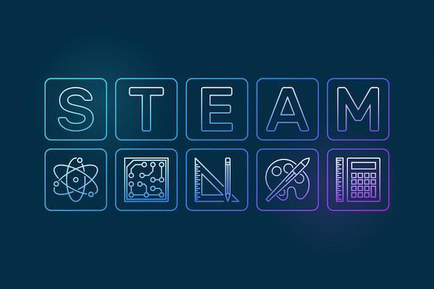Steam umrissillustration