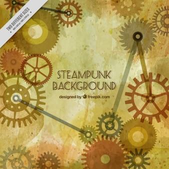 Steampunk-getriebe hintergrund