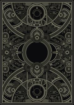 Steampunk-plakatschablonenvektor env