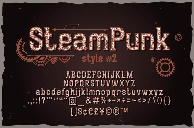 Steampunk starke dekorative schrift