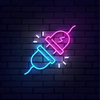 Stecker trennen neonschild