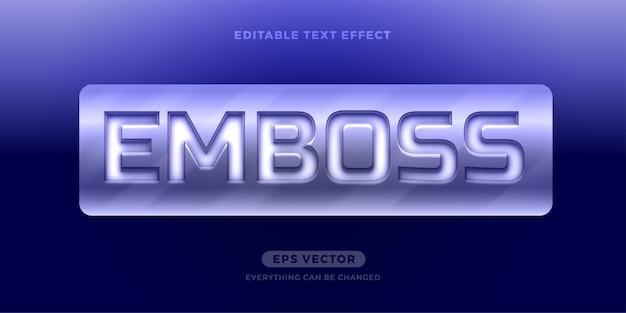 Steel emboss-texteffekt