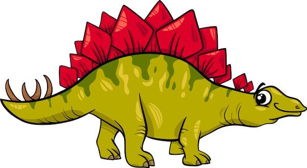 Stegosaurusdinosaurier-karikaturillustration