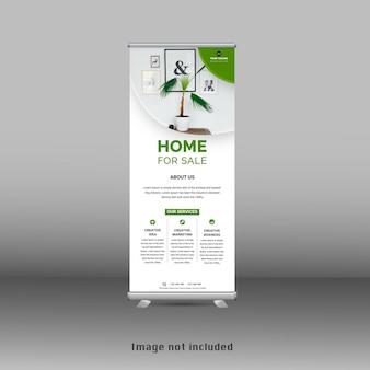 Stehen sie neue grüne roll-up-banner-standee-vorlage