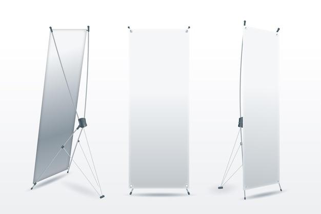 Stehende banner für die werbung für produkte