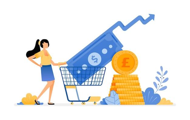 Steigende einkaufsinvestitionen im sekundären finanzmarkt