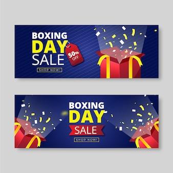 Steigende horizontale boxtagsverkaufsfahnen eingestellt