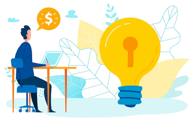 Steigender gewinn idea flat illustration