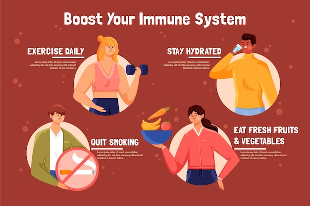 Steigern sie die infografik ihres immunsystems