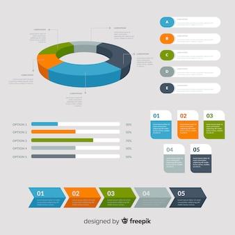 Steigung infographik elemente