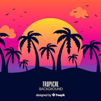 Steigung tropischen hintergrund