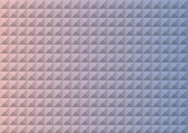 Steigungsrosenquarz und ruhe farbiges dreieckpolygon